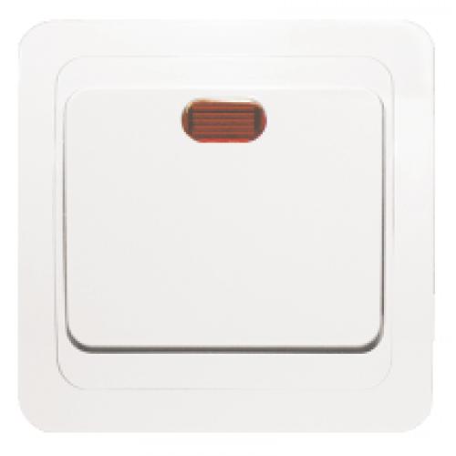Выключатель ЭКФ Лондон 1 клавиша с индикацией (бежевый)